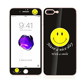 For Apple iPhone 7 Plus 5.5 Tempered Glass with Soft Edge Full Screen Coverage Front and Back Screen Protector Smile Pattern 5599201