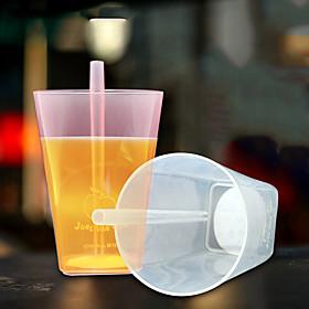 Novelty Drinkware, 350 ml Portable Plastic Juice Tea Cup 5634012