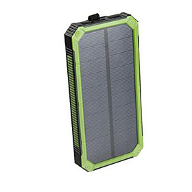 Portable Solar Power Bank Dual USB Power Bank 16000mAh Waterproof Power Bank Bateria External Portable Solar Panel with LED Light 5653181