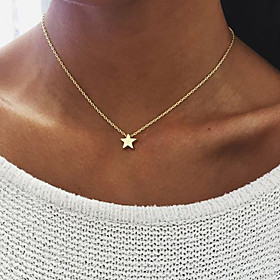 Women's Pendant Necklace - Star Unique Design, Dangling Style Multi-ways Wear Gold, Silver Necklace Jewelry For Birthday, Engagement, Daily