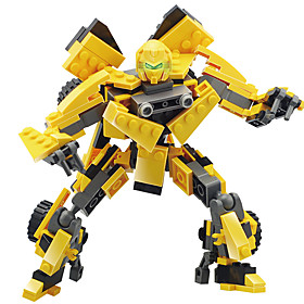 Toys For Gift  Building Blocks Model  Building Toy Warrior Robot Plastic 5 to 7 Years 8 to 13 Years 14 Years  Up Yellow Toys 5592404