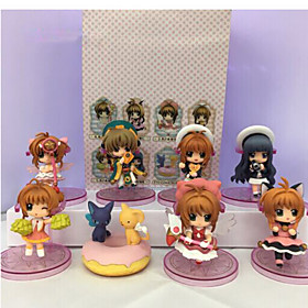 Anime Action Figures Inspired by Cardcaptor Sakura Sakura Kinomodo PVC 7 CM Model Toys Doll Toy 1set 5628587