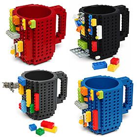 Drinkware Building Blocks Mugs DIY Block Puzzle Mug Caneca Build-On Brick Cup Type Coffee Mug 5566126