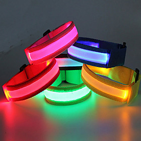 LED Running Armband / Glow Belt Waterproof for Camping / Hiking / Caving / Cycling / Bike / Outdoor - Cold White / Red / Blue