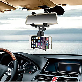 Car Phone Holder Car Rearview Mirror Mount Phone Holder For iPhone Samsung GPS Smartphone Stand Universal
