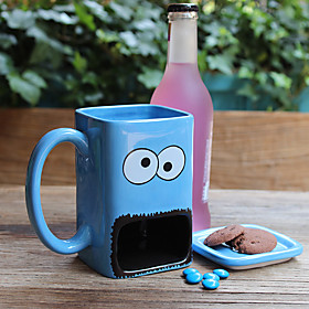 Novelty Cartoon Drinkware, 300 ml Big Mouth Ceramic Juice Water Coffee Mug 5599167