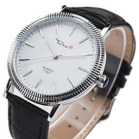 Women's Fashion Watch Quartz Leather Band Black Brown Brand 5610801