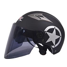 GXT M11 Motorcycle Half Helmet Dual-Lens Harley Sunscreen Helmet Summer Unisex Suitable For 55-61CM with Long Tea Mirror Lens 5603941