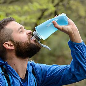 Minimalism Drinkware, 750 ml Foldable Portable Leak-proof Silicone Coffee Milk Water Bottle 5601033
