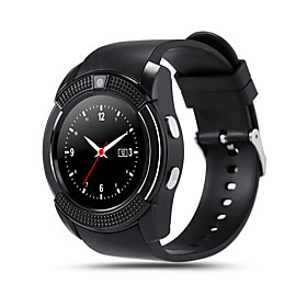 V8 Smartwatch Android Bluetooth Touch Screen Hands-Free Calls Camera Distance Tracking Pedometer Remote Control Fitness Tracker Activity Tracker Sleep Tracker