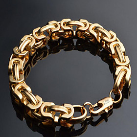 Men's Chain Bracelet - 18K Gold Plated, Gold Plated Dainty, Fashion Bracelet Gold For Christmas Gifts Special Occasion Birthday