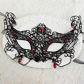 Sexy Women Black Lace Masquerade Halloween Mask Halloween Prop Cosplay Accessories