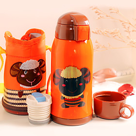 Cartoon Drinkware, 600 ml Heat Retaining Portable Stainless Steel Juice Milk Water Bottle 5600072