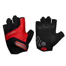 Santic Sports Gloves Men's Cycling Gloves Spring Summer Bike GlovesKeep Warm Anti-skidding Shockproof Breathable Wearproof Wearable High 5597087