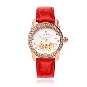 Women's Fashion Watch Quartz Leather Band Black White Red Brown Brand 5610752