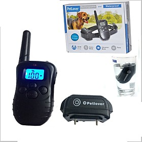 Pet Dog Training Collar Waterproof Rechargeable LCD Electronic Shock Remote Anti Bark Electric Collar Optional E998DB-1-BL-L 5594021