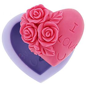 1Pcs 6.8X6.3X3Cm Silicone Rose Shape Cake Ice Jelly Chocolate Molds  Random Color 5585385