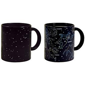 Heat Sensitive Color-changing Drinkware, 360 ml Constellation Pattern Gift Ceramic Coffee Mug 5598173