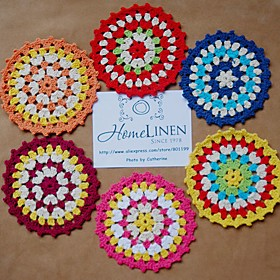 Set of 6 pieces doily Assorted Shabby Chic Vintage Look Crocheted Doilies 5611721
