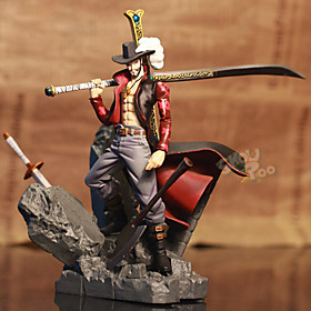 Anime Action Figures Inspired by One Piece Dracula Mihawk PVC 15 CM Model Toys Doll Toy 1pc 5628604