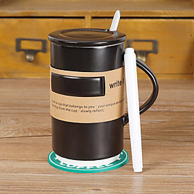 Classic memo Drinkware, 500 ml Squeezing Ceramic Juice  Coffee Mug with mark pen 5591270