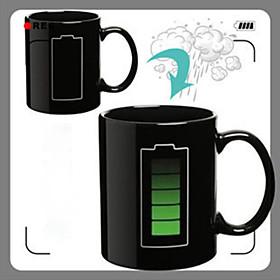 Heat Sensitive Color-changing Drinkware, 280 ml Power Pattern Ceramic Gift Coffee Mug 5598175