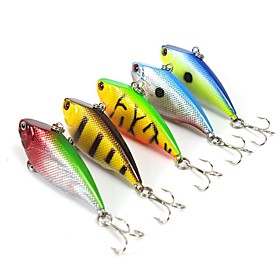 "5 pcs Fishing Lures Hard Bait Vibration/VIB Assorted Colors g/Ounce,55 mm/2-1/4"""" inch,Hard PlasticSea Fishing Bait Casting Spinning"" 5578180"
