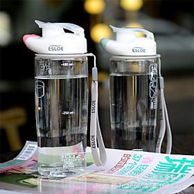 Transparent Drinkware, 600 ml Leak-proof BPA Free Plastic Juice Water Water Bottle 5591288