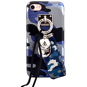 For Apple iPhone 7 7Plus 6S 6Plus Case Cover Camouflage Pattern High-Grade Imitation Leather DIY Ornaments Phone Shell 5602465