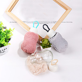 Transparent cute Drinkware with fuzzy cover, 200 ml mini Leak-proof Glass Juice Water Bottle 5591281