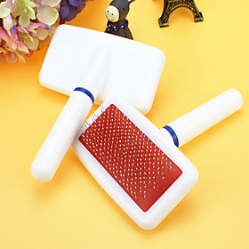 Cat Dog Grooming Cleaning Comb Portable White 5597049