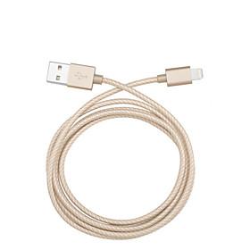 Belysning USB-kabeladapter Opladerkabel Opladerledning Data  Synkronisering Kabel Flettet Kabler Kabel Til iPad Apple iPhone 110 cm 4891550