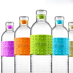 Transparent Drinkware, 500 ml Large Capacity Heat-Insulated Glass Juice Milk Water Bottle 5600061