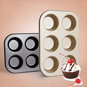 Even 6 Circular Muffin Cake With Cup Cake Bread Mould Even 6 Muffins Carbon Steel Plate Pan 5590199