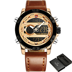 NAVIFORCE Men's Wrist Watch / Military Watch / Sport Watch Alarm / Calendar / date / day / Water Resistant / Water Proof / Large Dial / 5714885