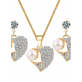 Women's Jewelry Set - Imitation Pearl, Rhinestone Heart Basic Include White For Wedding Party Special Occasion