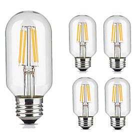 5 pezzi 4W 360lm lm E26/E27 Lampadine LED a incandescenza T45 4pcs Perline LED COB Decorativo Bianco caldo Luce fredda 220V-240V 5663065