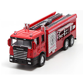 Die-Cast Vehicles Pull Back Vehicles Toy Cars Fire Engine Vehicle Toys Metal Alloy Plastic Metal Pieces Children's Gift 5714178