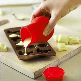 1Pcs Practical Silicone Chocolate Melting Pot Mould Butter Sauce Milk Baking Pouring 5717930