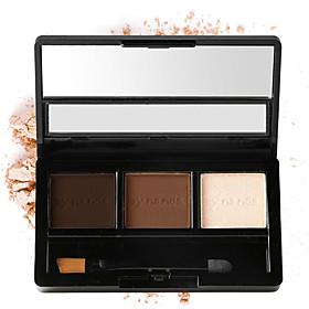 3 Colors Shimmer Powder Makeup Eyeshadow Palette Long Lasting Waterproof Natural Eyeshadow With Brush Beauty Women Gift 5691835