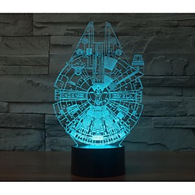 Star Wars In One Thousand Falcon 3 D Light Yakeli Is Stereo Light LED Colorful Gradient Atmosphere Lamp 5688992