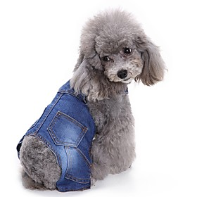 Cat Dog Clothes/Jumpsuit Dog Clothes Winter Spring/Fall British Fashion Casual/Daily Cowboy 5734562