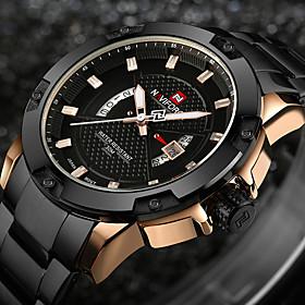 Watches Men Luxury Brand NAVIFORCE Military Watches Men's Quartz Date Clock Man Full Steel Sports Wrist Watch Relogio Masculino 5714887
