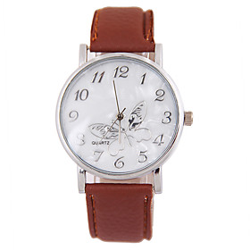 Women's Fashion Watch Quartz Leather Band Casual Black White Brown White Black Brown 5732940