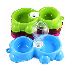 Cat Dog Bowls  Water Bottles Feeders Pet Bowls  Feeding Portable Random Color 5659723