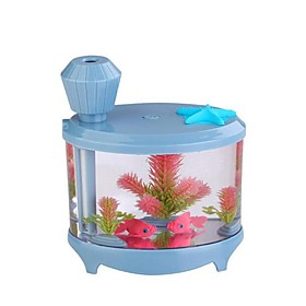 The Fish Tank Humidifier Mini Household Air Humidifying Purifier USB Humidifier Ultrasonic Small Night Lamp 5689003