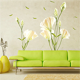 Romance Florals Botanical Wall Stickers Plane Wall Stickers Decorative Wall Stickers, Vinyl Home Decoration Wall Decal Wall Glass/Bathroom