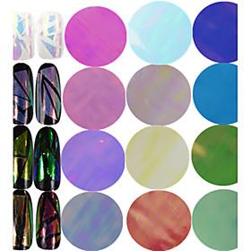 1pcs 1004cm New Fashion Nail Art Transfer Foils Sticker Colorful Design Transparent Sweet Glass Decals Nail DIY Foils Nail Beauty Decoration BL01-18
