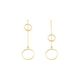Women's Hoop Earrings Pendant Dangle Earrings - Geometric, Dangling Style, European Gold / Silvery For Daily Casual