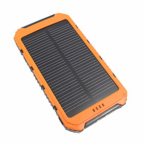 10000 mAh For Power Bank External Battery 5 V For 3.1 A / # For Battery Charger Waterproof / Multi-Output / Solar Charge LED